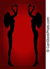 黑色半面畫像, ......的, a, 裸体的婦女, 海報
