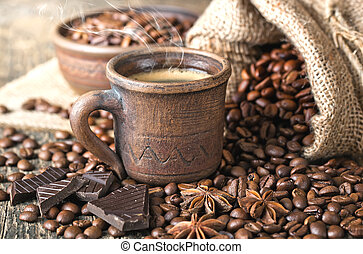 黑色的咖啡
