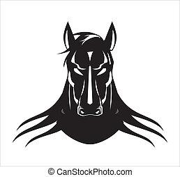 黑色, 公馬