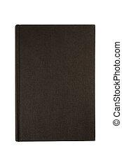 黑色, 平原, hardcover書, 或者, 聖經, 封面, 直立, 垂直, 被隔离, 在懷特上