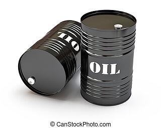黑色, 油, 桶