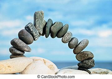 黑色, 石頭拱