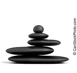 黑色, 石頭