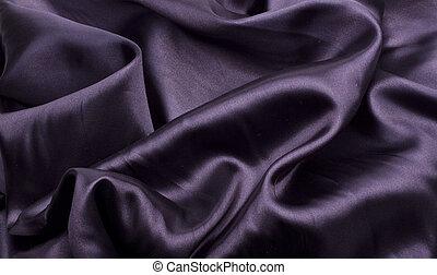 黑色, 緞子