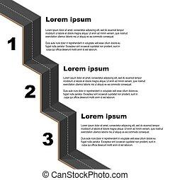 黑色, 路, infographic