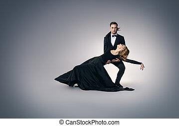 黑色, 跳舞, 服裝