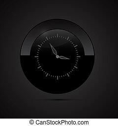 黑色, 鐘, 矢量, 插圖
