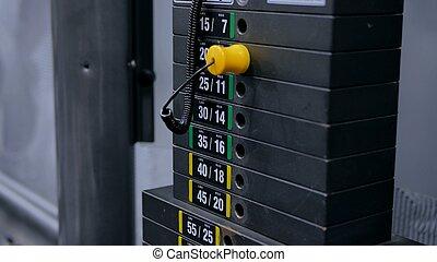 黑色, 鐵, 重, 盤子, 堆積, ......的, 重量机器