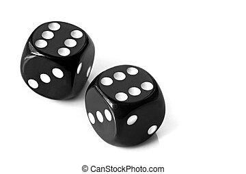 黑色, 骰子