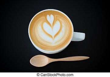 黑色,  latte, 藝術, 背景, 杯子