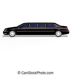 黑色, limo