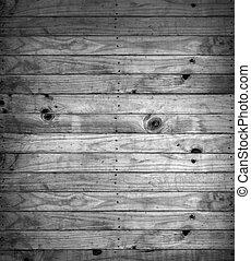 黒い、そして白い, の, 木製である, 手ざわり, バックグラウンド。