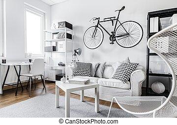 黒い、そして白い, インテリア・デザイン