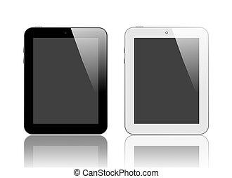 黒い、そして白い, デジタルタブレット