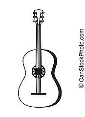 黒い、そして白い, 音響, guitar.