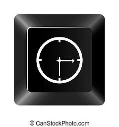 黒いボタン, 時計, アイコン