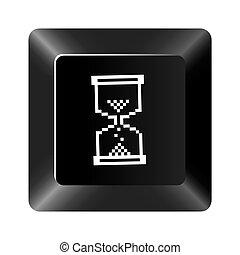 黒いボタン, 砂時計, アイコン