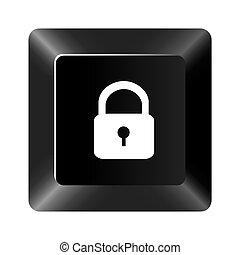 黒いボタン, 錠, アイコン