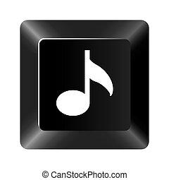 黒いボタン, 音楽, アイコン