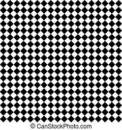 黒い、白い, ダイヤモンド, 点検