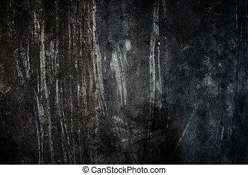 黒い背景, セメント, 汚い