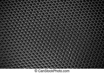 黒い背景, ハチの巣