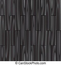 黒い背景, 寄せ木張りの床