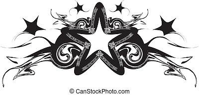 黒い背景, 星, 抽象的