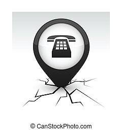 黒い電話, アイコン, crack.