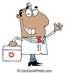 黒い 男性, 医者