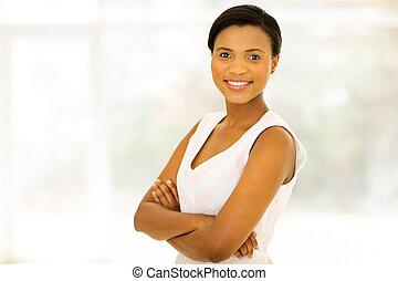 黒人女性, カメラを見る
