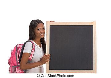 黒板, アメリカ人, 大学生, アフリカ