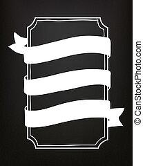 黒板, イラスト, 手, ベクトル, 引かれる, 旗