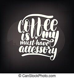 黒板, コーヒー, 黒板, レタリング