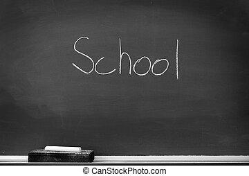 黒板, チョーク板, 消しゴム, 学校, ∥ために∥, 学生, 宿題