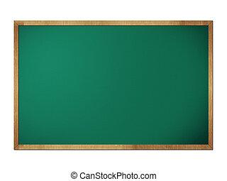 黒板, フレーム, 隔離された, 黒板, 背景, 白