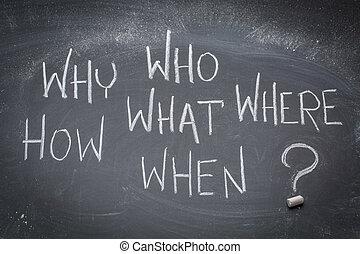 黒板, ブレーンストーミング, 質問