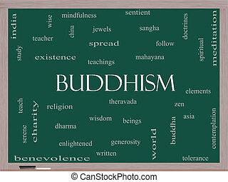 黒板, 仏教, 概念, 単語, 雲