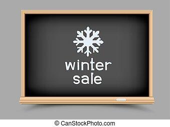 黒板, 冬, セール