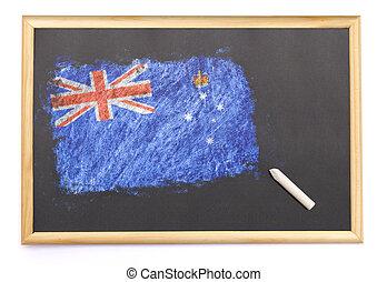 黒板, 国民, ビクトリア, 旗, 引かれる, on.(series)