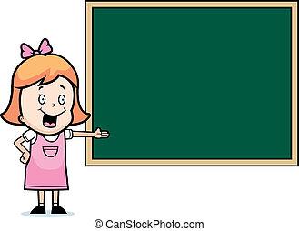 黒板, 子供
