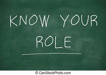 黒板, 手書き, 役割, 知りなさい, あなたの