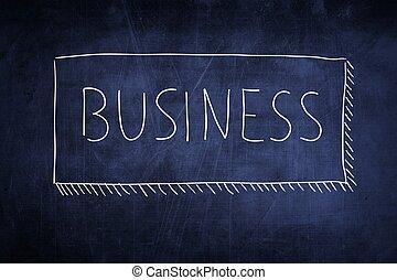 黒板, 概念, 単語, ビジネス, 手書き