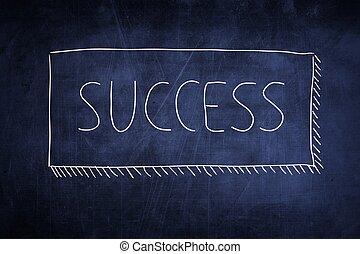 黒板, 概念, 単語, 成功, 手書き