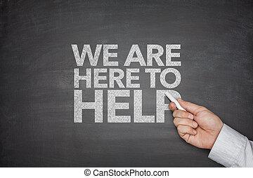 黒板, 私達, 助け, ここに