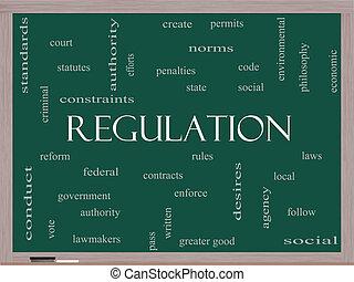 黒板, 規則, 概念, 単語, 雲