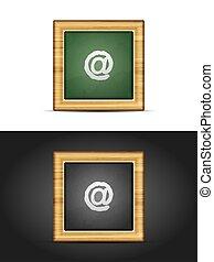 黒板, 電子メール, 印
