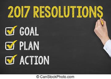 黒板, 2017, resolutions, 新年