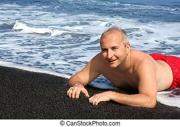 黒砂, 浜