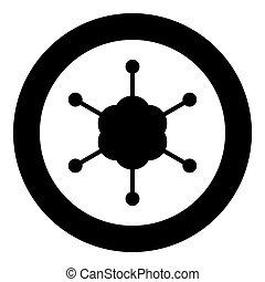 黒, アイコン, ラウンド, ネットワーク, 色, ビジネス, 円, ∥あるいは∥